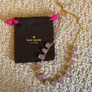 Kate Spade purple gum drop necklace